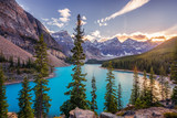 Autumn Sunset at Lake Moraine in Banff National Park