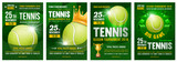 Tennis Poster Set Wall Sticker