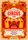 Circus Advertising Poster Wall Sticker