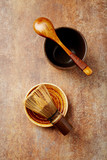 Traditional bamboo tea whisk - 192841898