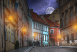 old streets of Prague night. - 192846829
