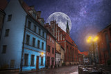 old streets of  Riga night. - 192846885