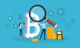 Blockchain technology. Flat design style web banner of blockchain technology, bitcoin, altcoins, cryptocurrency mining, finance, digital money market, cryptocoin wallet, crypto exchange.  - 192853076