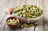 Cardamom on wooden background - 192859475