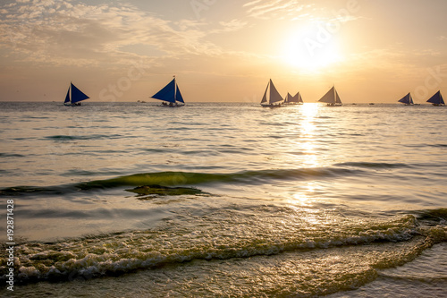Wind boat at the Boracay island, Philippines