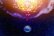 Influence Sun on planet Land - 192872405