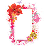 Greeting card with spray grunge background