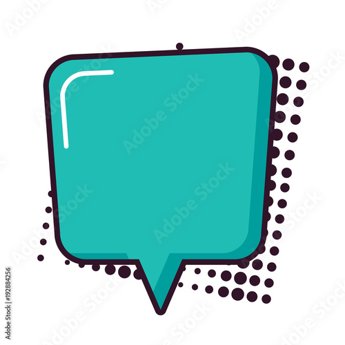 Canvas Pop Art Speech bubble design