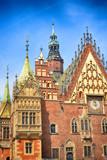 Breslau Fassade des Rathauses