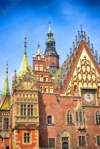 Fototapeta Breslau Fassade des Rathauses