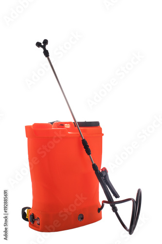 Pesticide, herbicide sprayer, isolated on white background.