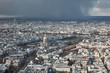 Parigi vista dall'alto di un grattacielo al tramontoi - 192889418