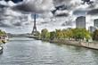 Eiffel Tower and Seine River.