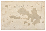 Used antique postcard mail Vintage retro paper background - 192893433