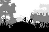 war battle silhouette - 192894625