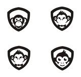 Set collection monkey logo
