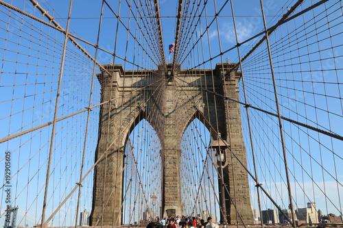 Foto op Aluminium New York Brooklin Bridge, New York