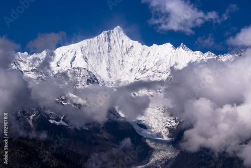 Tuinposter Lavendel 雲南省の梅里雪山の威容