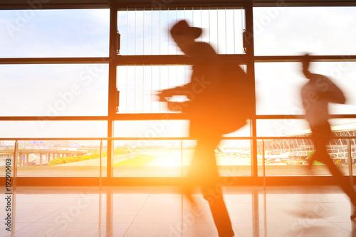 Foto op Aluminium Shanghai Passengers in Shanghai Pudong International Airport Airport