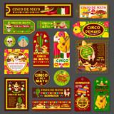 Cinco de Mayo mexican fiesta party tag and card - 192921620