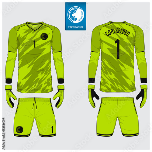 goalkeeper jersey or soccer kit goalkeeper glove template design