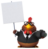 Fun chicken - 3D Illustration - 192935417
