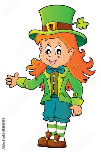Foto op Canvas Voor kinderen Leprechaun girl theme image 1