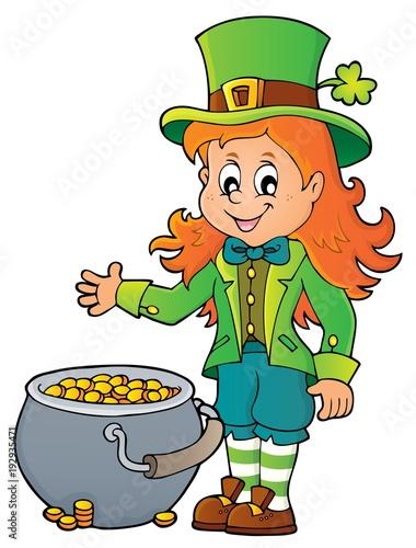 Foto op Canvas Voor kinderen Leprechaun girl theme image 2