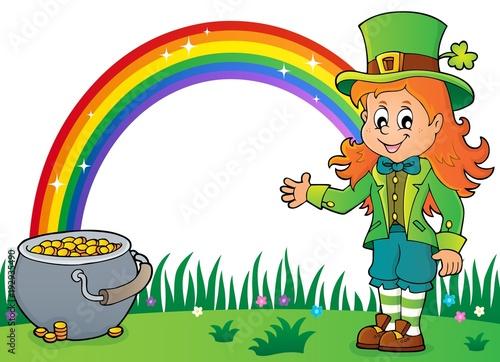 Foto op Canvas Voor kinderen Leprechaun girl theme image 3