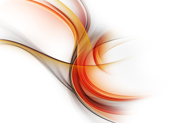 Awesome Abstract Orange Fractal Waves Design Flames Concept
