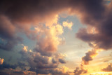 fantastic stunning colorful sunset sky, abstract natural background and texture, wallpaper