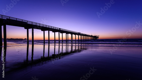Foto op Aluminium Snoeien Perfect view of Scripps Pier La Jolla at Magic Hour