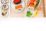 Japanese Sushi over white background. - 192957454