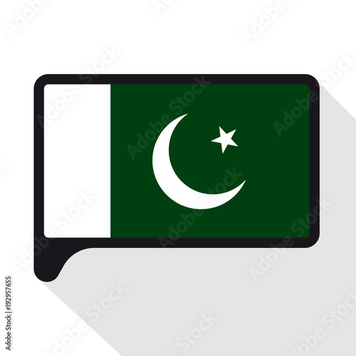 Speech Bubble Flag Of Pakistani The Symbol Of Independence Day A