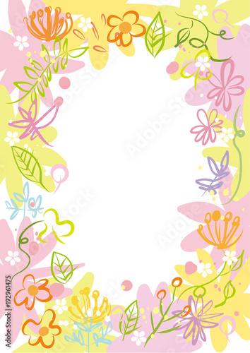 花フレーム 花