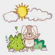 Dog in forest doodle cartoons - 192962214
