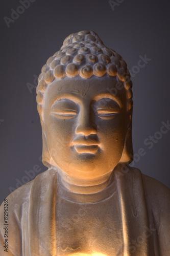 Plexiglas Boeddha Buddha incandescente