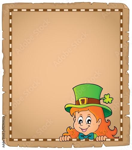 Aluminium Voor kinderen Lurking leprechaun girl parchment 1