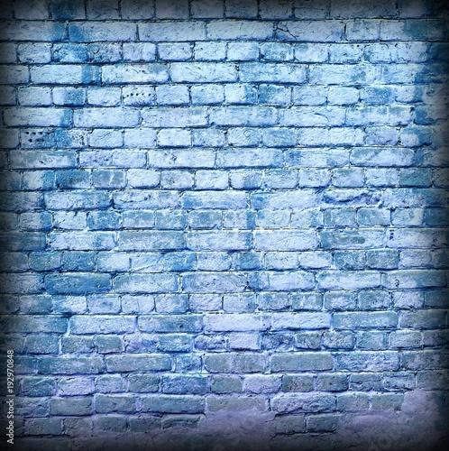 Fototapeta Modern Street Art Frame Background Texture. Grunge Graffiti Brick Wall.
