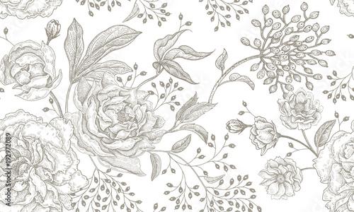 Floral vintage seamless pattern. - 192972089