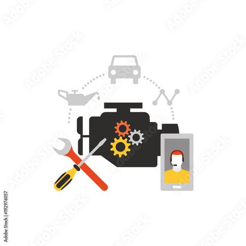 Poster Car services icon