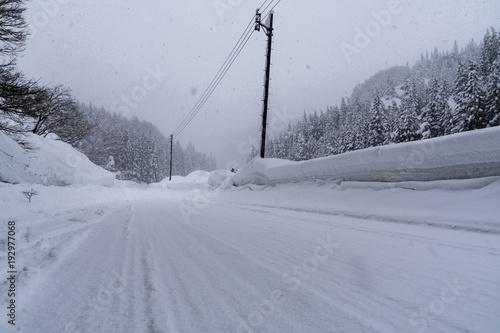 山形県最上町の大雪 Heavy snow in Yamagata Prefecture
