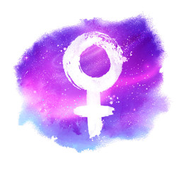 illustration of woman symbol