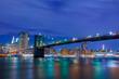 Night Brooklyn Bridge and Manhattan