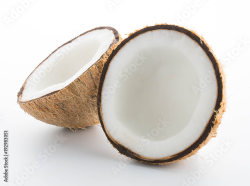 coconuts isolated on the white - 192983051