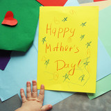 Happy Mothers day. baby card with colored paper - 192987073