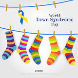 Vector Illustration on the theme World Down Syndrome Day - 192994042