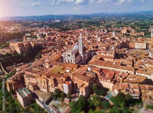Fotobehang Toscane toskana- Siena - altstadt