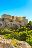 Day Athens panoramic landscape with Acropolis view against blue sky, Greece - 192997216