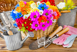 Gardening -  flowers and tools